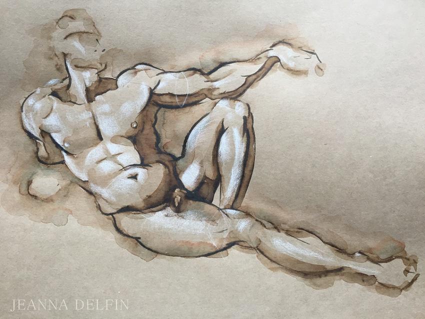 jeanna_delfin michelangelo david sketch_0002