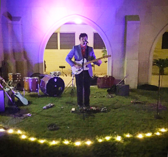 Josh Hill performing at the Trunk Space / Grace Church courtyard on Oct. 1, 2016